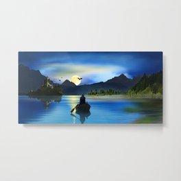The mystic lake Metal Print