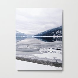 An Interrupted Reflection Metal Print