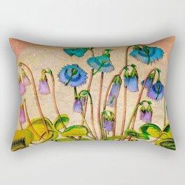 Flower Bells Rectangular Pillow