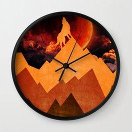 Golden Nighter Wall Clock