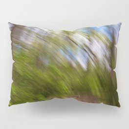 Abstract Forest Streaks Pillow Sham