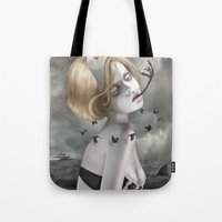 nurse Tote Bags featuring The Nurse by Dolce Babanne