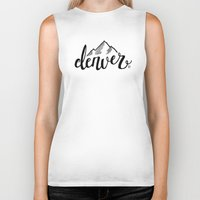 denver Biker Tanks featuring Denver by Katie Dondale
