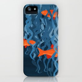 Goldfish in my hair iPhone Case