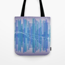 Blasting Waves Tote Bag