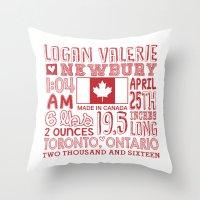custom Throw Pillows featuring custom by Becky McCreary