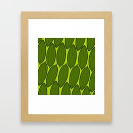 Mango leaves Framed Art Print