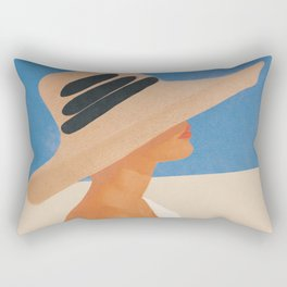 Summer Hat Rectangular Pillow