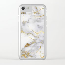 Italian gold marble Clear iPhone Case