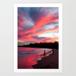 Blazing Reflection Art Print