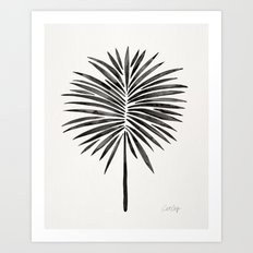 Tropical Fan Palm – Black Art Print