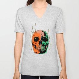 Space skull v1 Unisex V-Neck