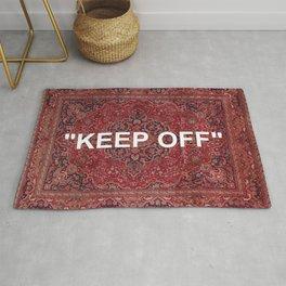 """keep off"" antique persian rug Rug"