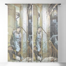 12,000pixel-500dpi - Alexander Zick - Table Cover Yourself - Digital Remastered Edition Sheer Curtain