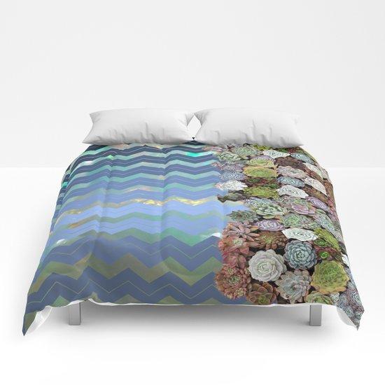 Opal & Succulent Chevron Pattern Comforters