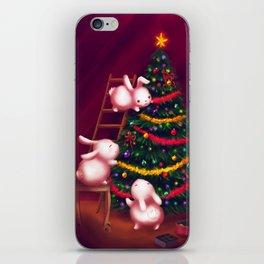 Chubby bunnies decorate the tree iPhone Skin