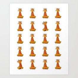 Orange Giraffe Art Print