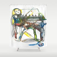 wings Shower Curtains featuring Wings by Dawn Patel Art