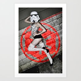 Holly Dawn Trooper Art Print