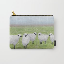 sheep and queen anne's lace Carry-All Pouch