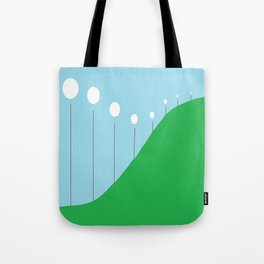 Abstract Landscape - Lights on the Hill Tote Bag