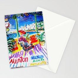 Vintage Menton France Travel Stationery Cards