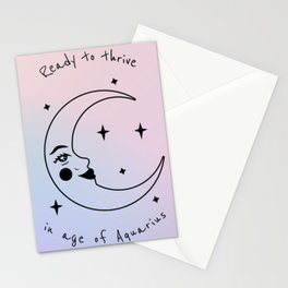 Ready to Thrive in Age of Aquarius Stationery Cards