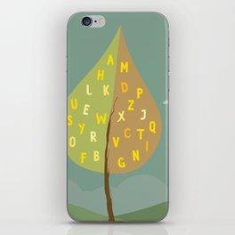 Alphapet Tree iPhone Skin
