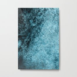 Frost Blue Ice Metal Print