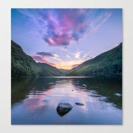 Wicklow Glendalough sunset over lake Canvas Print