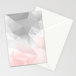 pink and gray geometric low poly background Stationery Cards