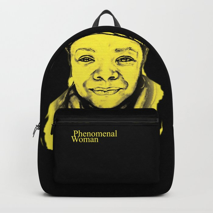 Maya Angelou - (yellow) Sketch to Digital Backpack