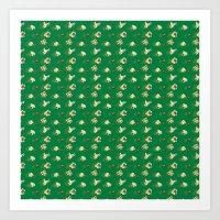 Popcorn Pattern Art Print