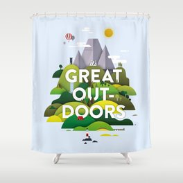 It's Great Outdoors Shower Curtain