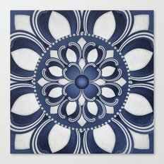 Spanish Flower in Blue Canvas Print