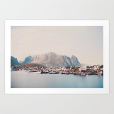Foot of the Mountain Art Print