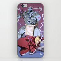 fullmetal alchemist iPhone & iPod Skins featuring Fullmetal Brothers by The Sketchy Corner - Ian Moir