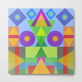 Afric colors in geometric symbols Metal Print