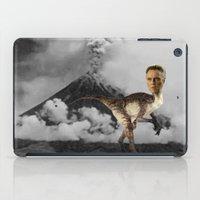christopher walken iPad Cases featuring ChristopheRAPTOR Walken - Christopher Walken Velociraptor by Kalynn Burke