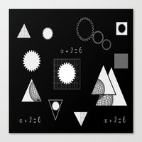 math Canvas Prints featuring math by BruxaMagica
