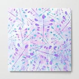 Lavender Foliage Whimsy Metal Print