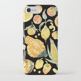 Harvest of Yellow - Black iPhone Case