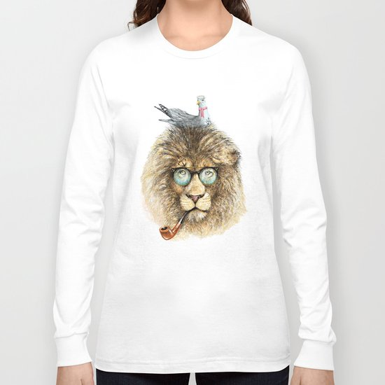 Lion sailor & seagull Long Sleeve T-shirt