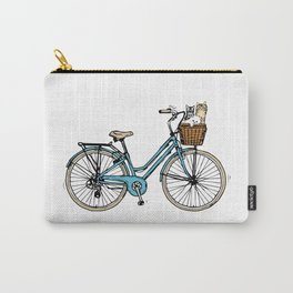 bike and Cats Carry-All Pouch
