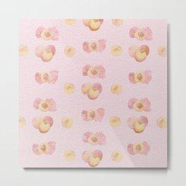 blush watercolor peach pattern Metal Print
