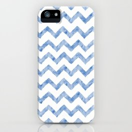 Chevron Light Blue And White iPhone Case