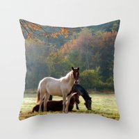 guardians Throw Pillows featuring The Guardians by ThePhotoGuyDarren