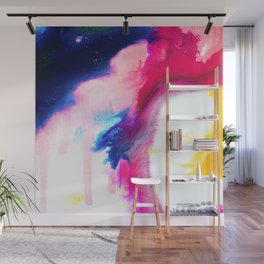 Happiness Talks Abstract Watercolor Painting Wall Mural