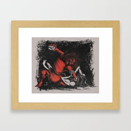 The Death of Remus Framed Art Print