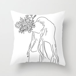 i want to come to life again Throw Pillow